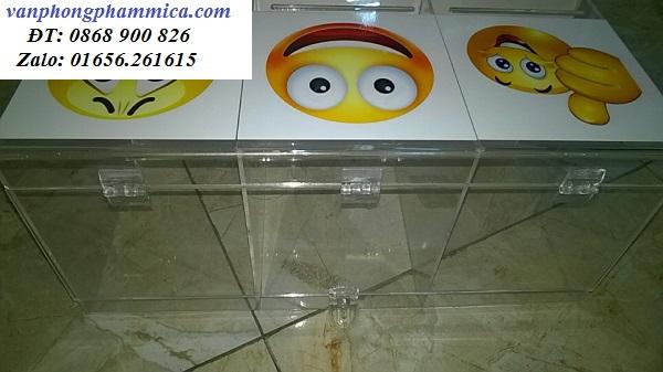 thùng phiếu mica