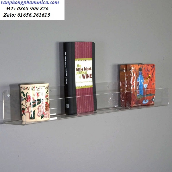 giá sách mica treo tường