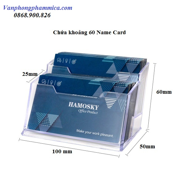 hộp đựng card visit mica